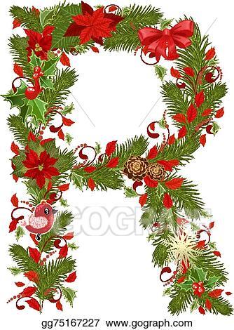 Christmas font - alphabet letter X