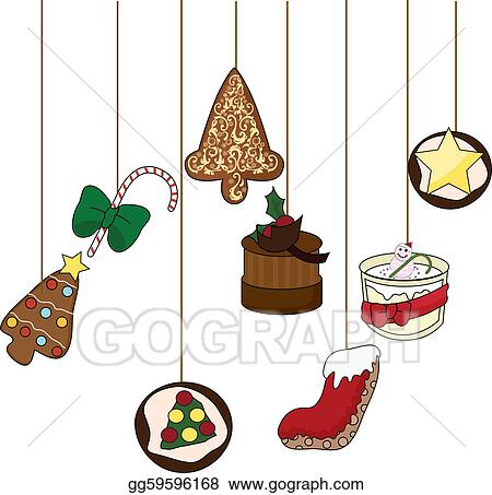vector illustration christmas food background eps clipart rh gograph com christmas food box clipart christmas food cliparts templates