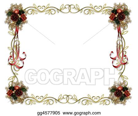 stock illustrations image and illustration composition for christmas holiday card border background or template with copy space stock clipart gg4577905