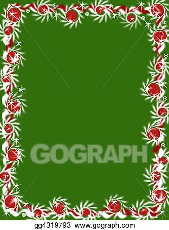 Clipart Christmas Garland Border Green Stock Illustration