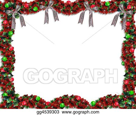 Stock Illustration Christmas Garland Border Clipart Illustrations