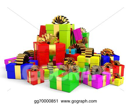 Drawing Christmas Gift Boxes With Bow Clipart Drawing Gg70000851