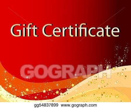 stock illustration christmas gift certificate clip art gg54837899