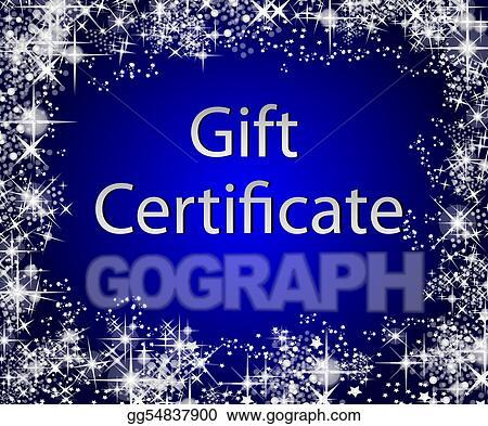 stock illustration christmas gift certificate clip art gg54837900