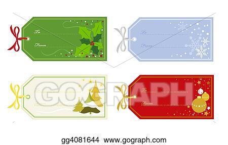 Christmas clip art gift tags