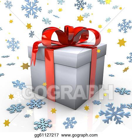 Christmas Gift Clipart.Stock Illustration Christmas Gift Clipart Drawing
