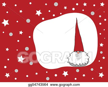 Christmas Gnome Drawing.Vector Art Christmas Gnome Clipart Drawing Gg54743564