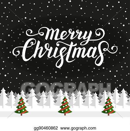Clip Art Vector Christmas Greeting Card Template Stock Eps