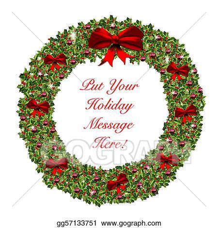 Christmas Holiday Clipart.Clipart Christmas Holiday Wreath Stationary Stock