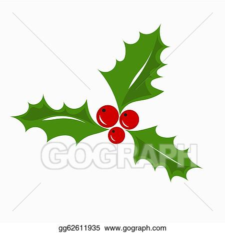 vector illustration christmas holly berry eps clipart gg62611935 rh gograph com christmas holly berry clipart holly berry wreath clipart