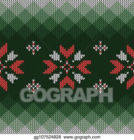 Vector Art Christmas Knitted Pattern Geometric Abstract Seamless