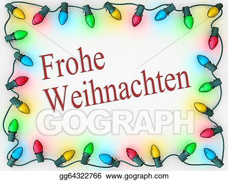 Christmas lights border merry christmas
