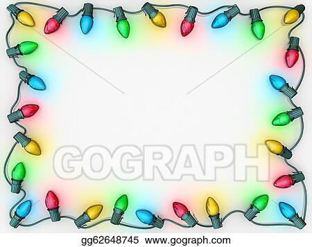 christmas lights border - Christmas Light Border