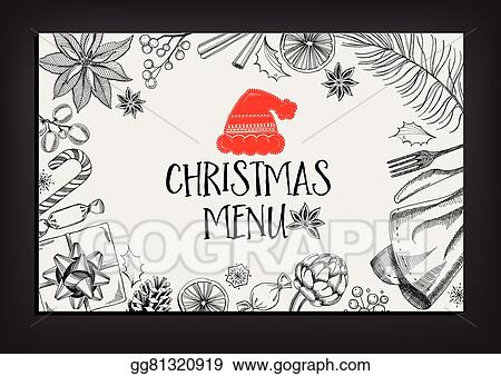 vector stock christmas party invitation restaurant food flyer