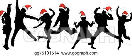 Office Christmas Party Stock Illustrations, Cliparts And Royalty Free  Office Christmas Party Vectors