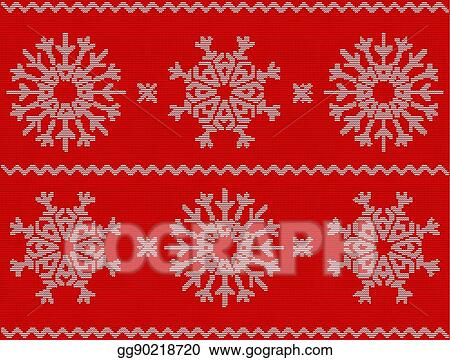 Christmas Sweater Background.Vector Illustration Christmas Pattern With Snowflakes New