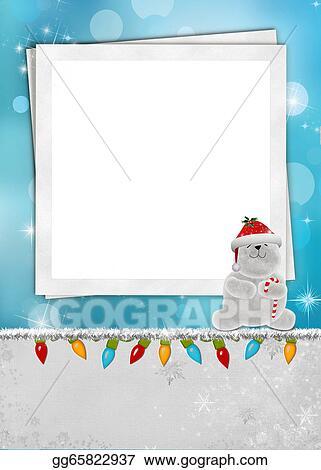 Stock Illustration - Christmas polar bear frame. Stock Art ...