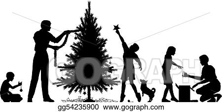 Vector Illustration - Christmas preparation. EPS Clipart ...