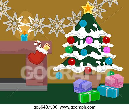 vector illustration christmas scene eps clipart gg56437500 gograph rh gograph com christmas scenery clip art christmas scenery clip art