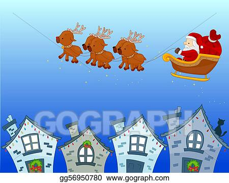 Christmas Scene Drawing.Drawing Christmas Scene Clipart Drawing Gg56950780 Gograph