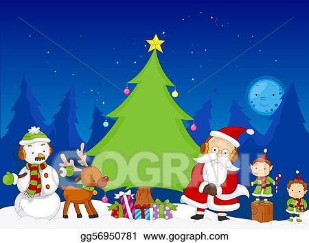drawing christmas scene clipart drawing gg56950781 gograph rh gograph com christmas scenery clip art christmas winter scenes clipart