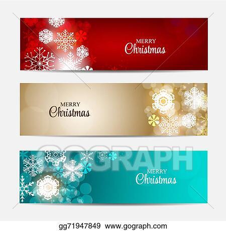 Christmas Header Clipart.Eps Illustration Christmas Snowflakes Website Header And