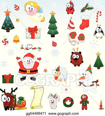 Vector Stock Christmas Symbols Collection Stock Clip Art