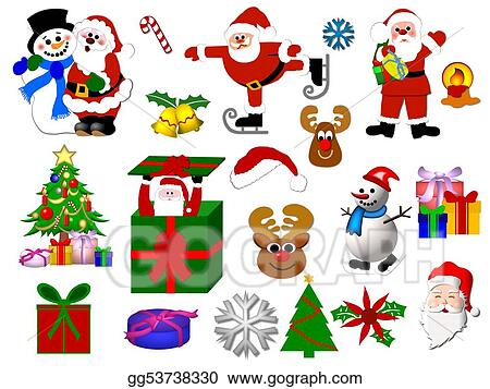 Drawing Christmas Symbols Isolated Clipart Drawing Gg53738330
