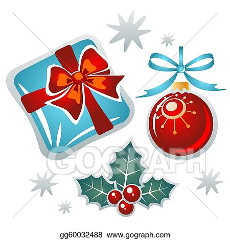 Drawings - Christmas symbols set. Stock Illustration ...