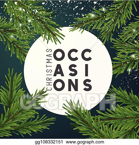 Christmas Tree Top View.Vector Stock Christmas Top View Design With Fir Tree