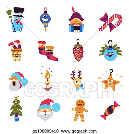 Vector Stock Christmas Tree And Santa Claus Winter Holidays Characters Clipart Illustration Gg108083450 Gograph