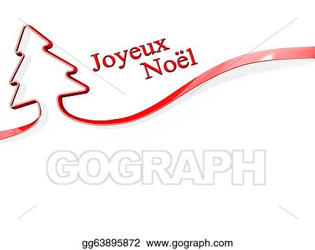 christmas tree ribbon merry christmas french language - How To Say Merry Christmas In French
