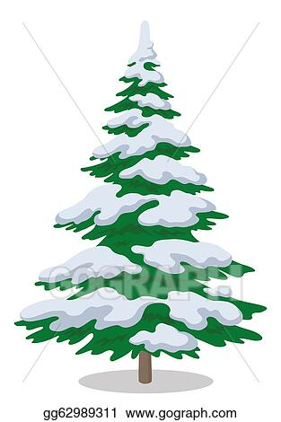 Drawing Christmas Tree With Snow Clipart Drawing Gg62989311 Gograph