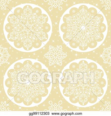 stock illustration christmas vector folk pattern white snowflake