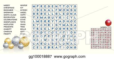 christmas words search puzzle - Christmas Words That Start With S