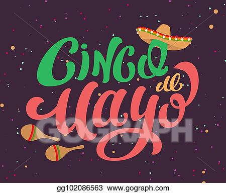 Eps illustration cinco de mayo mexican holiday text banner for cinco de mayo mexican holiday text banner for greeting card m4hsunfo