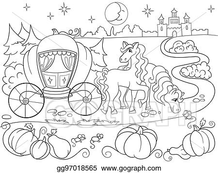 Vector Stock - Cinderella fairy tale coloring book for ...