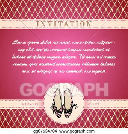 vector stock cinderella princess invitation template stock clip