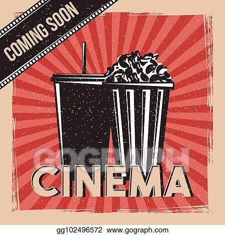 Movie coming soon. Eps illustration cinema premier