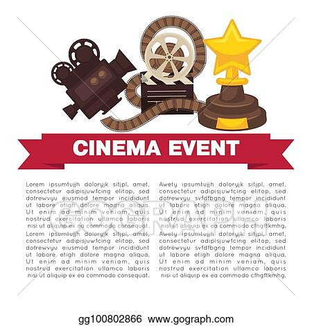eps vector cinema event promotional poster template with