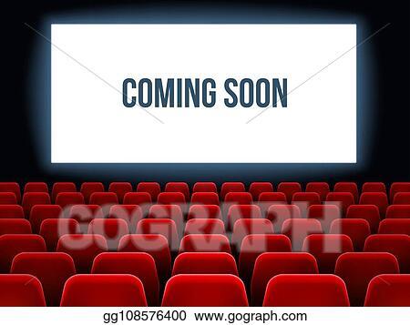 Movie coming soon. Vector stock cinema hall