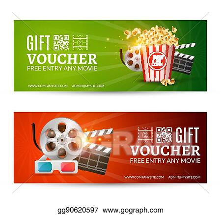 vector stock cinema movie banner poster design template film
