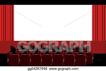 Cinema clipart  Stock Illustration - Cinema - red room. Clipart Drawing gg54267948 ...