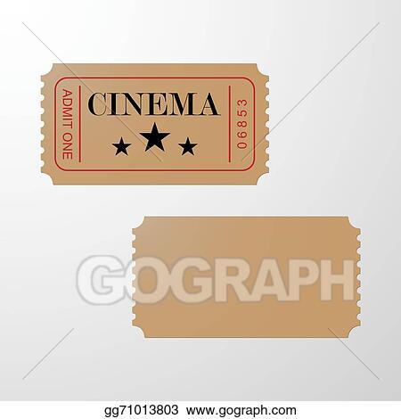 vector illustration cinema ticket blank ticket stock clip art