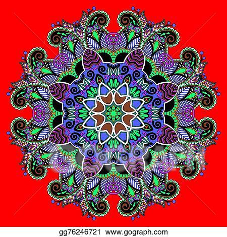 Vector illustration circle decorative spiritual indian symbol of circle decorative spiritual indian symbol of lotus flower mightylinksfo