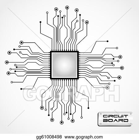 vector art circuit board cpu clipart drawing gg61008498 gograph rh gograph com  schematic diagram article