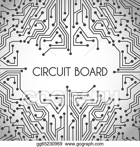 Vector Art - Circuit board design. EPS clipart gg65230969 - GoGraph