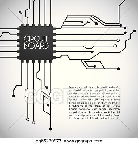Clip Art Vector - Circuit board design . Stock EPS gg65230977 - GoGraph