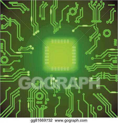 vector stock circuit board green vector background motherboard rh gograph com red circuit board computer chip clip art