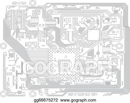 Vector Illustration - Circuit board vector computer drawing ...